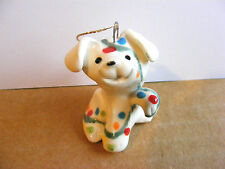 Little Guys Twinkle Dog Christmas Ornament Mini Animal Cindy Pacileo Pottery
