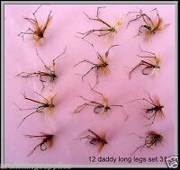 Trout Fly Fishing Flies, Daddy Long Legs FLIES Flies, Hook Size 12 - set 31 x 12