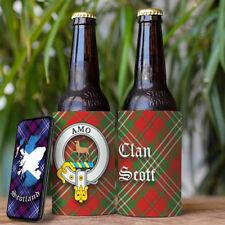 Scott Clan Drink Cooler - Scottish Stubby Holder - Beer Bottle Can