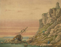 J.C.A. Marston - 1859 Watercolour, Run Aground