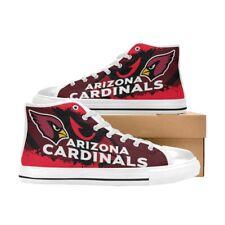 arizona cardinals Mens Custom Sneakers High Top Canvas Casual Shoes