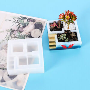 DIY Crystal Epoxy Resin Handmade Succulents Seeds Flower Potted Silicone Mold