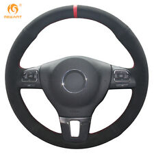 Non-Slip Suede Steering Wheel Cover for VW Gol Tiguan Passat B7 CC Jetta Mk6