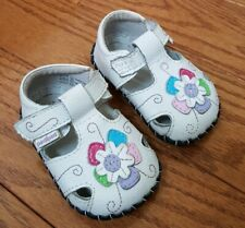 pediped Originals Sandals Infant Girls Flower White Size 0-6 Months 2.5 - 3.5