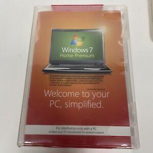 Microsoft Windows 7 Premium 64 bit x64 w/SP1 Full English MS WIN Factory Sealed