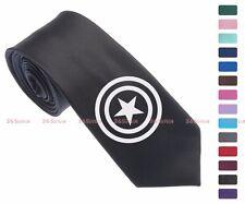 Marvel Hero Captain America Men Multi-colored 6.5 cm Skinny Slim Tie Necktie 022