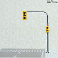 4 x traffic lights HO OO crossing walk model train LED street signals #B3C2RHOR