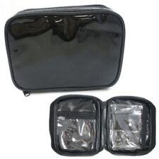 Wholesale Bulk lot of 100 Black Vinyl Waterproof Cosmetic Toiletry Travel Bag