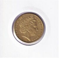 2000 Australian 1 Dollar Coin - LOW MINTAGE - KEY DATE ABOUT UNCIRCULATED