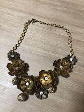 J Crew Bronze Flower Necklace