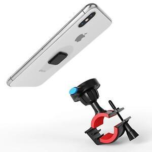 TechMatte Universal Bike Mount Phone Holder for Most Smartphones (Black/Red)