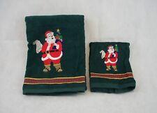 Santens 100% Cotton Santa Claus Themed Hand & Fingertip Bathroom Towel Set