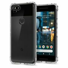 Google Pixel 2 Case, Spigen Crystal Shell Flexible Clear Cover - Crystal Clear