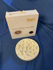 Slow Feeder Pet Bowl Plate Large Medium Pet Tableware White