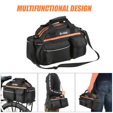 14L Bike Rear Seat Bag Rack Bicycle Basket Pannier Bag Cycling Luggage Storage C