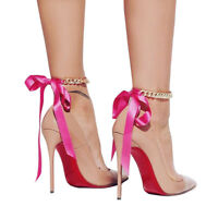 EG_ LC_ Women Ribbon Ankle Chain Bracelet Anklet Foot Sandals Beach Jewelry Gift