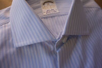 NWT Brooks Brothers Golden Fleece Sea Island Blue White Stripe 15.5-34 MSRP $325