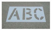 Parking Lot Alphabet Stencil