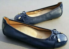 Vionic Size 6.5 Minna Ballet Flat Bow Navy Leather Orthotic New