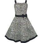 Sunny Fashion Girls Dress Leopard Print Summer Beach Sundress Size 4-12