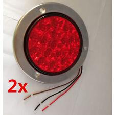 """2pcs 5.5"""" Red 16 LED Round Tail Light Reverse Brake for Car Truck Trailer 12/24V"""
