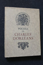 Poésies de Charles d'Orléans. Piazza. 1926. Numéroté
