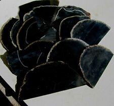 rle BLACK ONYX SLABS, GREAT QUALITY! 1.50 lbs. 17-23 pcs.. NOT POLISHED