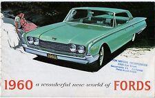 Ford 1960 USA Market Foldout Sales Brochure Falcon Fairlane Galaxie Thunderbird