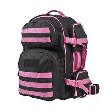 NC Star VISM Water Resistant Tactical Backpack MOLLE Webbing Black + Pink - NEW