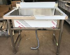 Commercial Catering Kitchen Stainless steel Single bowl sink 700mm x 700mm