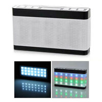 Portable Pulse Stereo Wireless Bluetooth Speaker with Dazzle LED Light FM Outdo