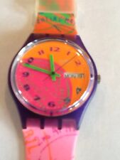 """SWATCH WATCH""""FLUO SEAL"""" VERY RARE NEW COLLECTABLE MINT GV700 GREAT GIFT NIB"""