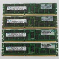 32GB RAM KIT for HP G6 G7 G8 Server 4x 8GB 2RX4 DDR3 PC3-10600R RAM  DL360 DL380