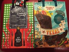 North Carolina & TX Trader Joe's BAGS reusable Shopping grocery Tote ECO bag NWT