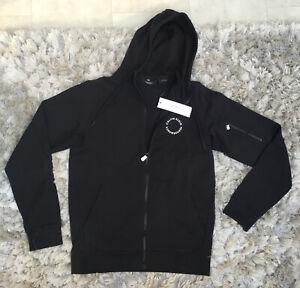 Calvin Klein Black Performance Hoody... Full Zip.  Brand New With Tags. Medium