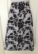 Ladies French Connection Silk Skirt Size 8 Pale Blue/Black Floral Design