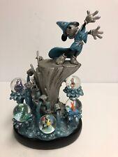 Disney Mickey Mouse FANTASIA 2000 Blue Figurines Dewdrops Multi SnowGlobes