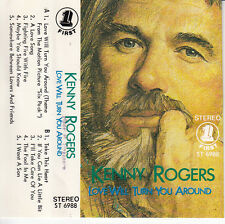 """K7 AUDIO KENNY ROGERS """"LOVE WILL TURN YOU AROUND""""  (MADE IN SINGAPORE)"""