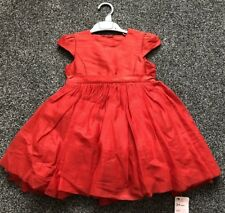 NEW Mothercare Red Puffy Party Dress Baby Girl 3 - 4 Years Wedding Christmas