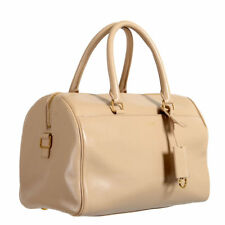 Saint Laurent Women's Cream Beige Calfskin Leather Classic Duffle 6 Bag