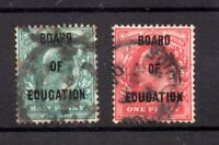 GB KEVII 1/2d & 1d Board of Education used pair WS19617