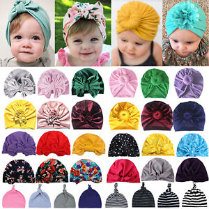 Baby Girls Turban Knot Head Wear Wrap Cute Kids Twist Hat India Bunny Cotton Cap