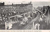 Eau Claire Wisconsin~Street Fair Decorations~Industrial Parade on Barstow~1908