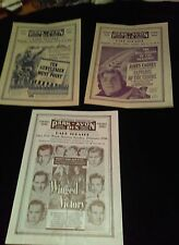 1942 1946 Movie Theatre Theater Program Bulletin Waukesha Cagney Air Force