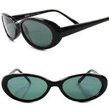 Classic True Vintage 70s 80s Rockabilly Fashion Womens Black Cat Eye Sunglasses
