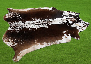 "New Cowhide Rugs Area Cow Skin Leather 27.53 sq.feet (65""x61"") Cow hide U-3824"