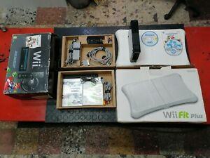 Console Nintendo Wii Nera + fit e accessori