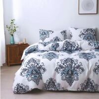 Floral Duvet Cover Set for Comforter Twin/Queen/King Size Bedding Set