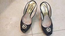 Michael Kors Black  leather open toe Shoes size 9.5 M