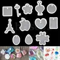12 Patterns Silicone Mold Resin Pendant Jewelry Necklace Hand Crafts Making  US